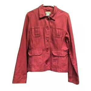 The Territory Ahead Womens Red Jacket Button M